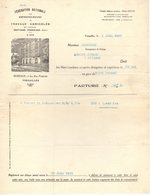 78 VERSAILLES FACTURE 1930 Fédération Nationale Des Entrepreneurs De Travaux Agricoles Battage Pressage   *  Z69 - France