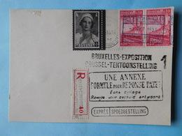Carte Maximum Avec Timbres & Oblitérations + Griffes Expo Bruxelles 1935 - Cartes-maximum (CM)