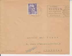 1953 France 10 Aube Troyes Flamme 'Ses Eglises, Monuments, Musees' - Postmark Collection (Covers)