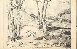 -ref  W237- Guerre 1914-18- Illustrateurs -illustrateur -satirique -le Terrier De L Argonne -lapin -lapins Humanises  - - War 1914-18