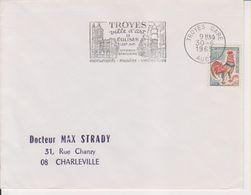 1965 France 10 Aube Troyes Flamme 'Ville D'Art, 9 Eglises, Vitraux Statuaire' - Postmark Collection (Covers)