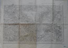 Cambrai S.E. Aubencheul Aux Bois Au Nord-Ouest à Oisy Au Nord-Est Et De Saint-Quentin Au Sud-Ouest à Audigny Au Sud-Est. - Cartes Topographiques