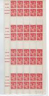 DEMI-FEUILLE N° 433 C-1 IRIS 1fr Rouge Non émis - Booklets