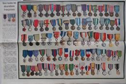 Vers 1950, Tableau Des Décorations Françaises.Médaille Militaire, 100 Ans De Gloire. - Army & War
