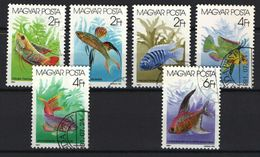 Hungary 1987. Aquarium Fishes Animals Nice Set, USED With First Day CTO Cancellings ! - Fische