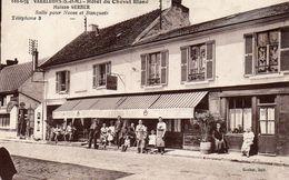 Vends Carte   VARREDDES  ; L'HOTEL  Du Cheval Blanc  ( Maison Gerber ) Animée - Other Municipalities