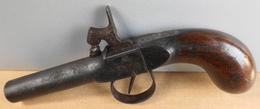 Ancien Petit Pistolet à Percussion - 18cm De Longueur - En L'Etat - Armes Neutralisées