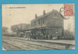 CPA 7 - Chemin De Fer Gare De MARCOING 59 - Marcoing