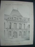 ARCHITECTURE..GRAVURE De 1898..MAISON, Rue Saint Patrice à ROUEN (76) - Architecture