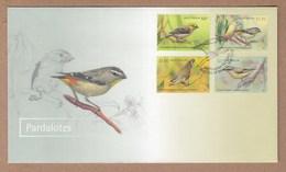 Padalote Birds - Australia FDC 2013 High Values - Songbirds & Tree Dwellers