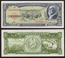 5 PESOS 1960 CUBA (NEUF / UNC) P91c - Cuba