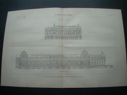 ARCHITECTURE..GRAVURE De 1898.. LA NOUVELLE GARE D'ORLEANS à PARIS (75)..Architecte M. LALOUX - Architecture