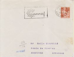 1959 France 06 Alpes Maritimes Cannes Flamme 'Le Soleil Vous Attend A Cannes' - Postmark Collection (Covers)