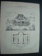 ARCHITECTURE..GRAVURE De 1898.. CHALET à BARNEVILLE.(50)...Architecte M. BRUNO-PELLISSIER - Architecture