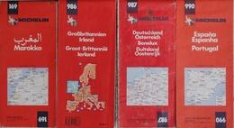 Carte Routière Michelin Au 1/1.000.000e - Lot De 4 Cartes: Maroc, Grande Bretagne, Irlande, Allemagne, Benelux, Espagne - Cartes Routières