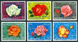 1966 Khor Fakkan (Emirati Arabi) Fiori Flovers Fleurs Rose Roses MNH** Fio178 - Khor Fakkan