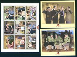 Mongolia 2000 The Three Stooges 2nd Issue Movie Cinema Klbg+2Bl Shtl+2S/S MNH - Mongolia