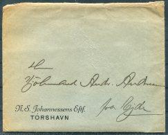 1936 Faroe Islands Business Cover + Invoice / Bank Doc. Thorshavn - Eide - Faroe Islands