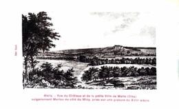& Mello - Gravure - Vue Du Château Et De La Petite Ville - Andere Gemeenten