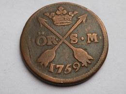 Suede  1 Ore 1759 Sm    Km# 460   Adolf  Frederick     TB++ - Suède