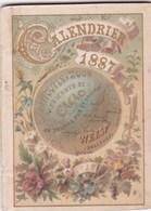 Mini Calendrier Almanach De 1887 Caco Van Houten Et Zoon Weesp Hollande 72 X 52 Mm - Calendriers