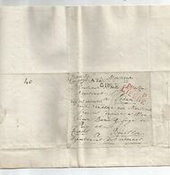 Lettre De LIERRE P.93.P Dép. Des Deux Nethes Vers Bouillon: A TAXER DEPUIS GIVET :Franche De Port -Sedan- Ardennes 1815. - Marcofilia (sobres)