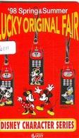 Télécarte Japon / 110-016 - DISNEY - Character SERIES * LUCKY FAIR '98 * MICKEY MINNIE DONALD (6111) JAPAN PHONECARD TK - Disney