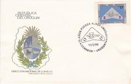 FDC-75 AÑOS FUERZA AEREA URUGUAYA.-URUGUAY-TBE-BLEUP - Uruguay