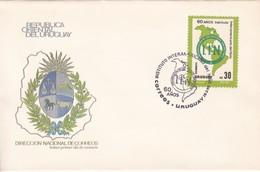 FDC-60 AÑOS INSTITUTO INTERNACIONAL DEL NIÑO.-URUGUAY-TBE-BLEUP - Uruguay