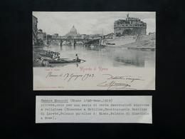 Autografo Cesare Maccari Cartolina Postale Roma Giugno 1903 Pittura Loreto Siena - Autógrafos