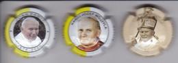 LOTE DE 3 PLACAS DE CAVA OLIVELLA I BONET DEL PAPA JUAN PABLO II (CAPSULE) POPE - Mousseux