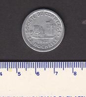 Monnaie Necessité La Rochelle (17) Charente Maritime  .. 10 C Societe Des Commerçants 1922 .. Aluminium  21 Mm - Monetary / Of Necessity