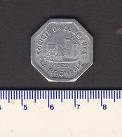 Monnaie Necessité La Rochelle (17) Charente Maritime  .. 25c Societe Des Commerçants 1922 .. Aluminium  23 Mm - Monetary / Of Necessity