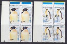 Chile 1992 Antarctica / Penguins 2v Bl Of 4 (corners)  ** Mnh (37630) - Postzegels