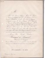 DOUAI Rose BOUCQUEL De BEAUVAL Baronne D'ASSIGNIES 78 Ans 1855 Famille PICOT D'ALIGNY De GORGUETTE - Décès