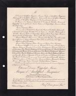 BREZOLLES SASSY-par-Mortrée Etienne Marquis D'AUDIFFRET-PASQUIER Maire St-Christophe Le JAJEOLET 1904 Casimier PERIER - Décès