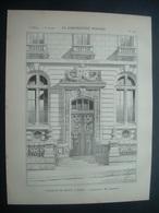 ARCHITECTURE..GRAVURE De 1898.. FACULTE De DROIT, à PARIS (75)...Architecte M. LHEUREUX - Architecture