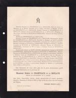 MENTON Peintre De La Marine Octave De CHAMPEAUX De La BOULAYE 65 Ans 1903 De La BOULAYE DURAND De PREMOREL - Décès