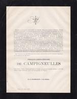 PARIS François-Joseph De CAMPIGNEULLES 51 Ans 1879 RAPAERT De GRASS SURMONT De VOLSBERGHE - Décès