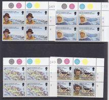 South Georgia 1996 Shackleton's Trek 4v Bl Of 4 (corner, 3v With Sheet Number) ** Mnh (37632) - Zuid-Georgia