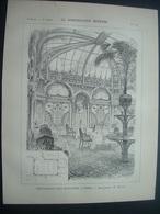 ARCHITECTURE..GRAVURE De 1898.. RESTAURANT, Rue Boccador, à PARIS (75)...Architecte M. HURTRE - Architecture