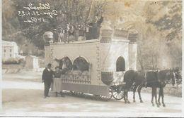 DIGNE TOP CARTE PHOTO ANCIENNE INEDITE CAVALCADE DU 29.4.1923 CHAR ELDORADO BIEN ANIME 4° PRIX  BON ETAT RARE !  2 SCANS - Digne