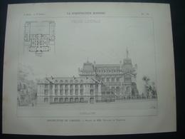 ARCHITECTURE..GRAVURE De 1898.. PREFECTURE De LIMOGES (87)...Projet De MM. VIONNOIS Et VALENTIN - Architecture