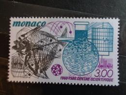 MONACO 1985 Y&T N° 1474 ** - 25e ANNIV. CREATION DU CENTRE SCIENTIFIQUE DE MONACO - Neufs