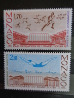 MONACO 1985 Y&T N° 1475 & 1476 ** - CHAMPIONNATS INTERNATIONAUX D' ATHLETISME ET NATATION - Neufs