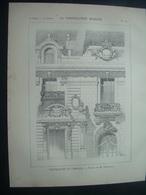 ARCHITECTURE..GRAVURE De 1898.. PREFECTURE De LIMOGES (87)...Projet De M. DUBUISSON - Architecture
