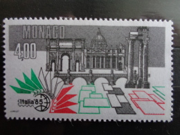 MONACO 1985 Y&T N° 1491 ** - EXPOSITION PHILATELIQUE MONDIALE A ROME - Neufs