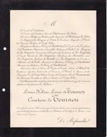 Château D'AVRILLY 70 Ans 1899 Louise De TOURNON Comtesse De TOURNON Famille De CHABANNES De CROY-SOLRE - Décès