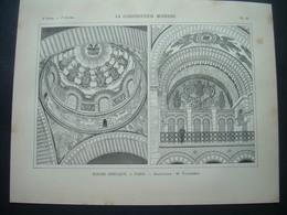 ARCHITECTURE..GRAVURE De 1898.. EGLISE GRECQUE à PARIS (75)...Projet De M. VAUDREMER - Architecture