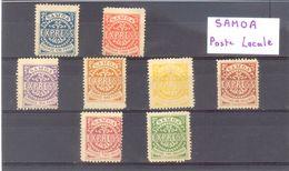 SAMOA - POSTE LOCALE -  PLAQUETTE  - SEPT TIMBRE (TRACE CHARNIERE) - BEL ENSEMBLE . - Samoa
